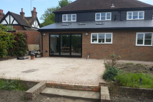 Extension and Patio in Bearsted 03