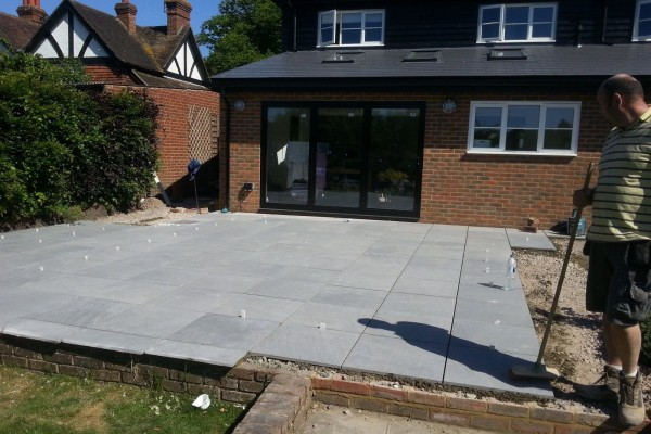 Extension and Patio in Bearsted 04