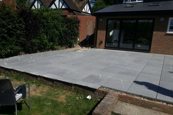 Extension and Patio in Bearsted 05
